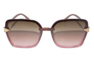 eBasic-Plastic-Square-Sunglasses(Brown&Pink)_FRONT